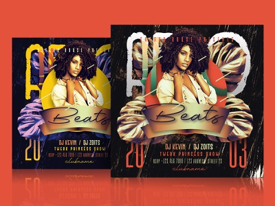Afro Beats Party Flyer Template psd flyer afro entertainment music reggae hip hop creative  design colorful african creative dj night party flyer dj mix advertisement template photoshop nightclub flyer layout poster