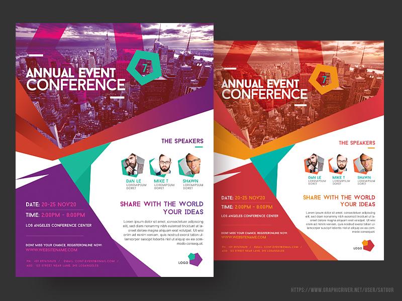 event summit conference flyer by satgur design studio dribbble