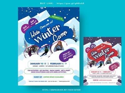 Kids Winter Camp Flyer