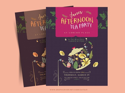 Afternoon Tea Party Flyer