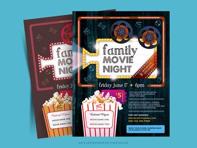 Family Movie Night Flyer