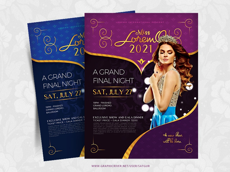 beauty contest flyer royal a4 flyer creative beauty satgur photoshop print template layout fashion pageant beauty