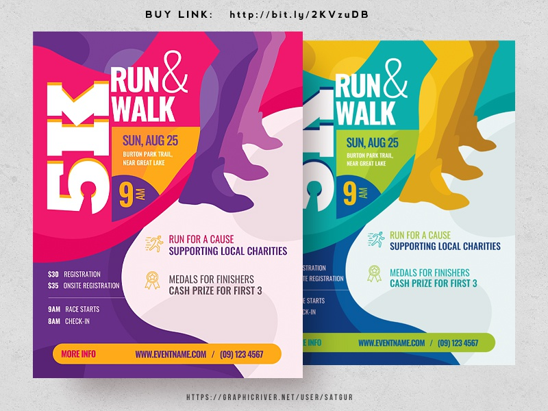 5k run flyer by satgur design studio dribbble dribbble