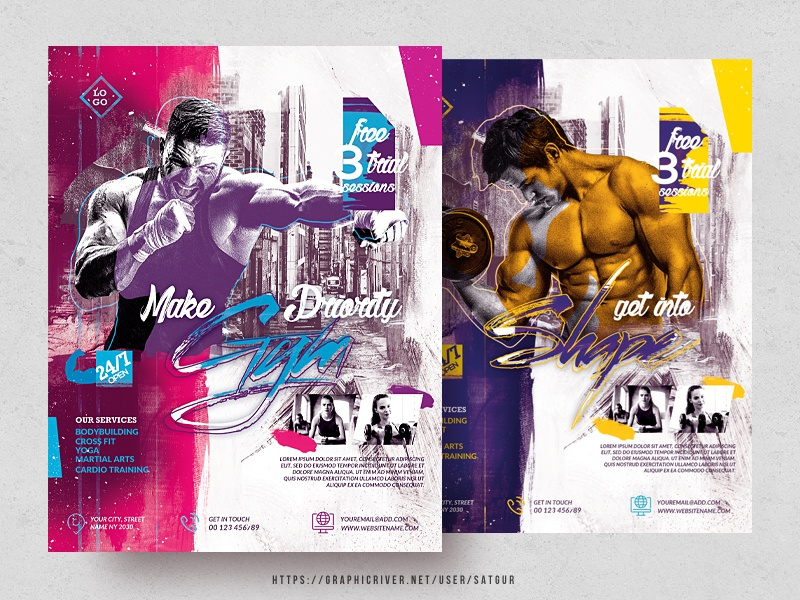 Fitness Flyer by Satgur Design Studio on Dribbble