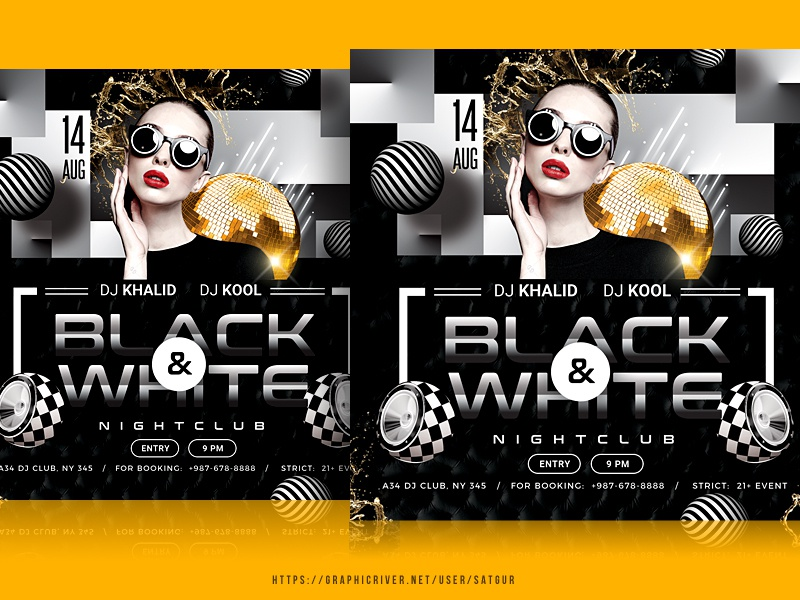 Black And White Party Flyer new year party nye flyer birthday flyer discoball music flyer ladies night flyer club flyer all black black and white event flyer dj flyer dj mix photoshop satgur advertisement party flyer template flyer nightclub poster