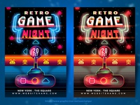 Retro Game Night Flyer Template