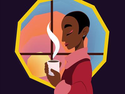 Morning Coffee vector design illustration