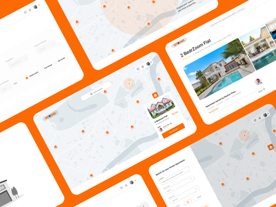 UI Design - Lethouz location maps trendy ux design figma clean concept flat ui estate agents housing