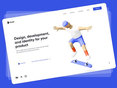 Digital Agency UI Design ui refined inspiration trendy app design branding concept ux figma design