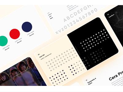 Design System user interface design icon set design system typography logo branding refined flat concept ux figma ui design