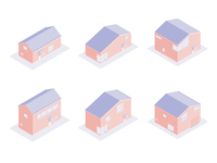 Isometric Houses 3d art affinitydesigner adult house isometric 3d illustration