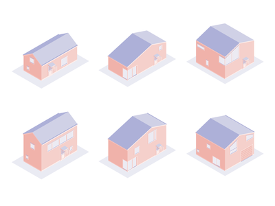 Isometric Houses 3d art affinitydesigner adult house isometric 3d illustration