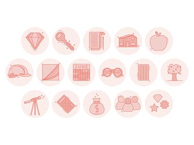 Brand Icons branding badge icons flat flatdesign illustrator illustraion