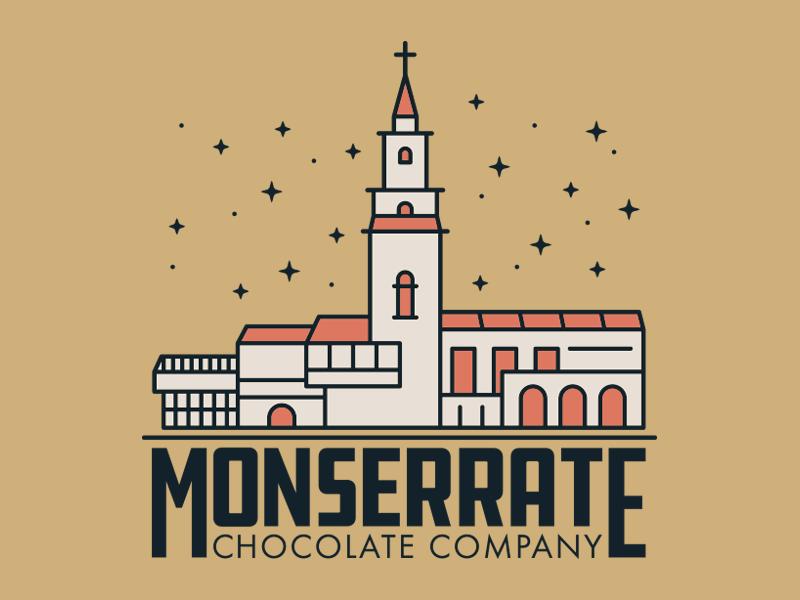 Monserrate Chocolate Company illustration branding logo bogota colombia monserrate