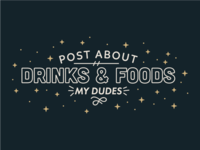 Drinks & Foods - My Dudes