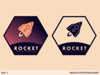 Rocket - Day 1 #DailyLogoChallenge