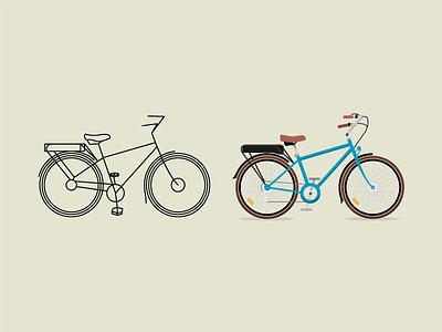 Bicycle shading illustration bicycle bike