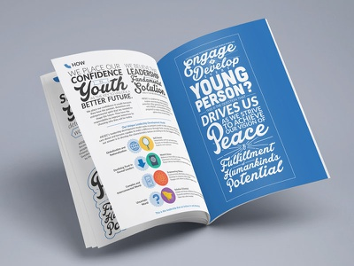 The AIESEC Way corporate identity typography illustrations icons values mission print aiesec