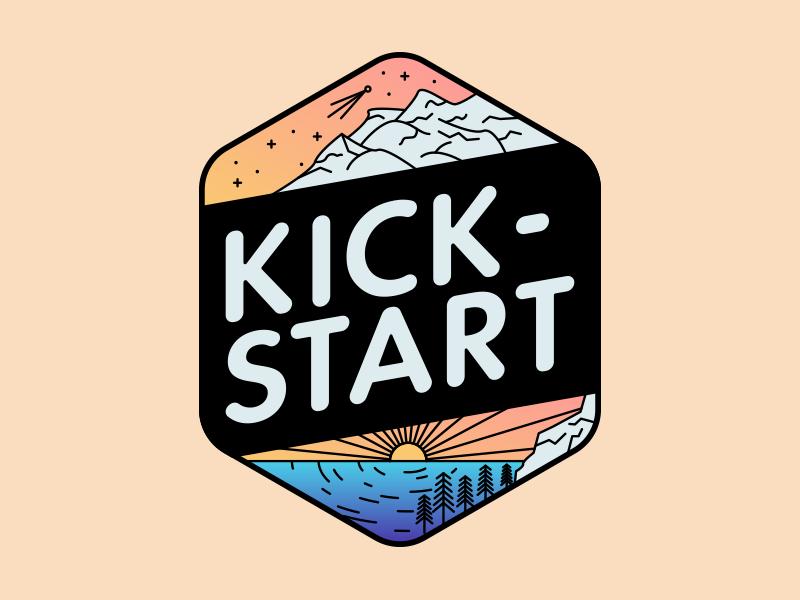 Kickstart Badge kickstart emblem logo badge