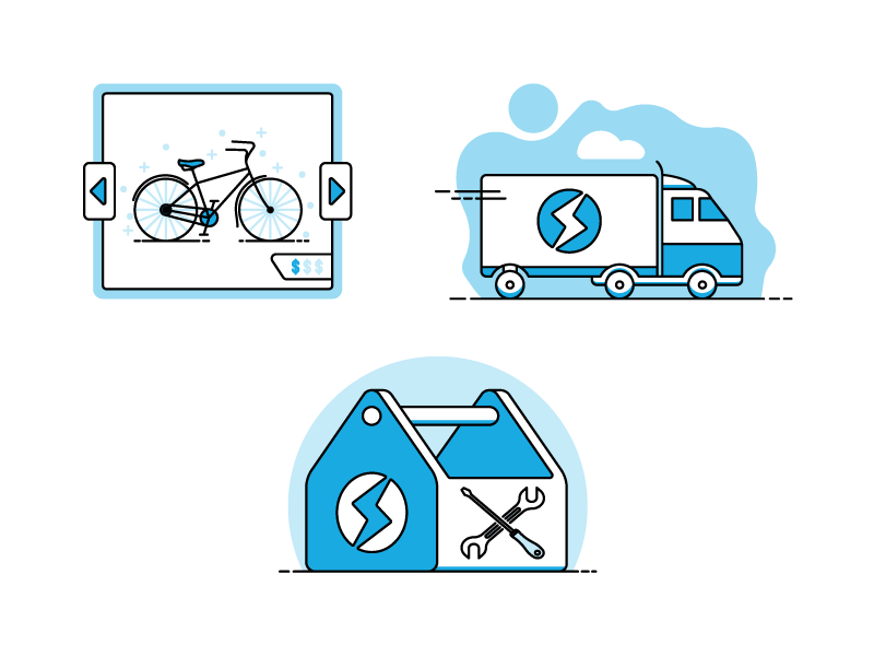 Step Illustrations illustration toolkit transit bicycle