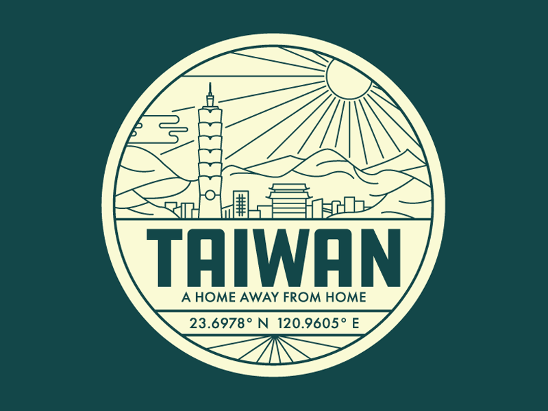 Taiwan Badge art illustration taiwan asia emblem badge