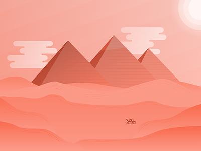 Giza Illustration giza tourism travel landscape illustration egypt pyramids