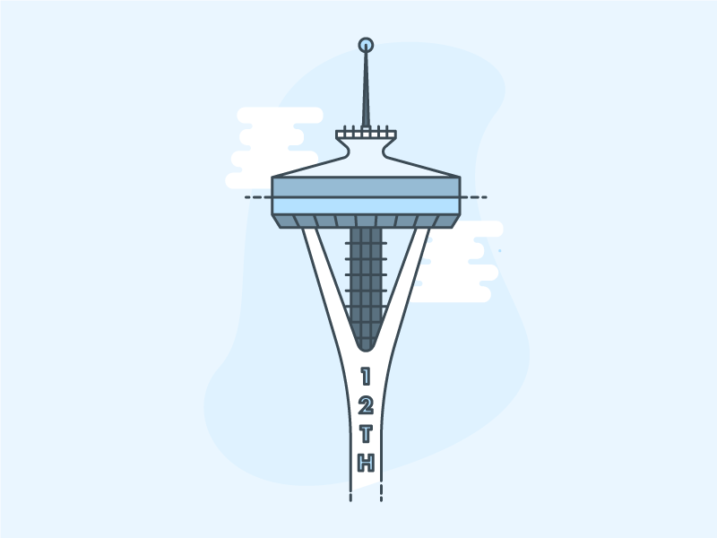 Space Needle Illustration landmark washington seattle space needle illustration