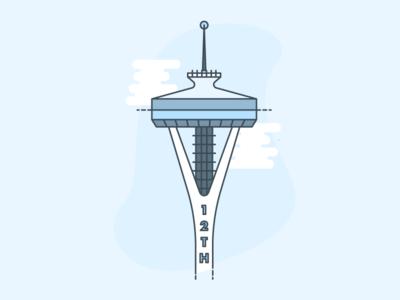 Space Needle Illustration