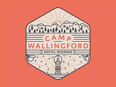 Camp Wallingford poppy wallingford camp camping mountains lantern seattle badge