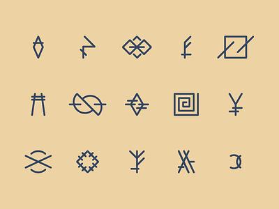 Symbology I vector flat lineart emblem illustration line art illustrator tattoo symbols symbol