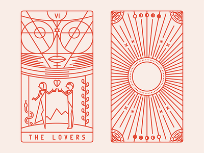 Tarot Deco - The Lovers lovers deck card tarot