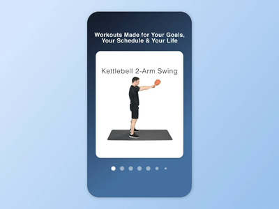 Card Swipe & 3D Spread fitness exercise workout motion design motion graphics app motion