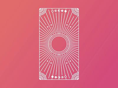 Tarot Reveal Animation illustration lineart card spooky tarot animation