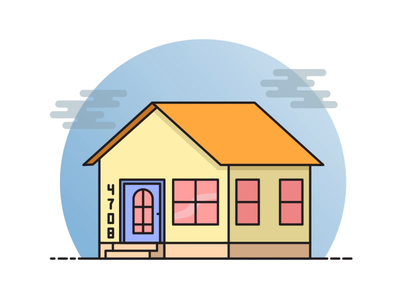 Animated Illustration - House Reveal vector flat after effects aftereffects illustrator paths home motion graphic animation illustration house