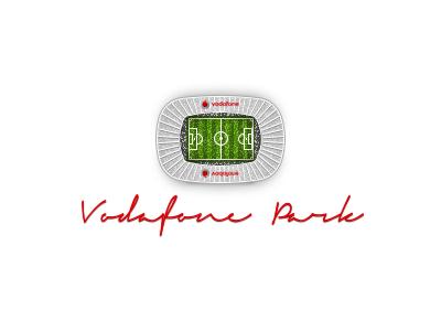Vodafone Park besiktas stadium icon pixel