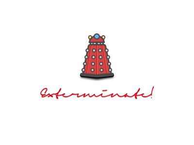 Dalek exterminate! red dalek