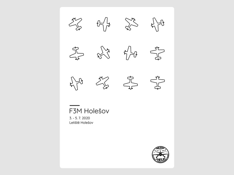 Poster for aerobatic event F3M Holešov concept simple design poster design poster