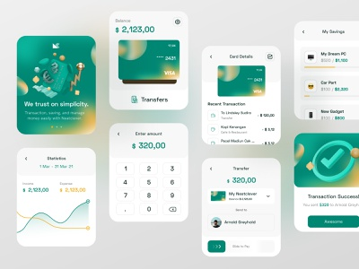 Simple Banking WatchOS App ux transactions watchos bank 3d ui fireart studio fireart