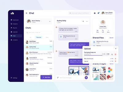 CRM Platform Chat minimal clean chat ux ui dashboard crm fireart studio fireart