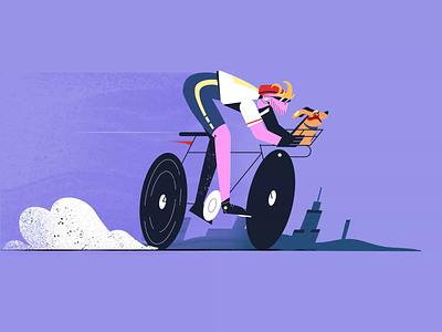 Tour De Freelance collab bicycles motion design animation fireart studio fireart