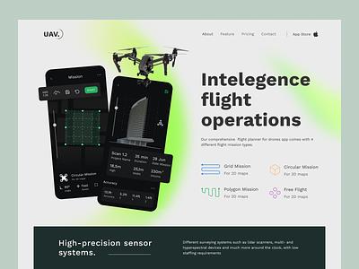 Drone Mapping App Landing Page gradients drone scan ux ui landing fireart studio fireart