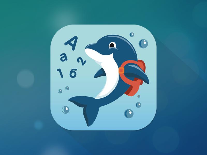 Alphabet App Icon fireart fireart studio icon ios penguin character illustration emotion alphabet