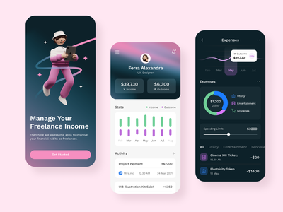 Financial Management App finance mobile app ios management chart ux ui fireart studio fireart