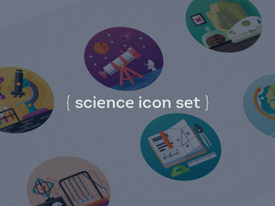 Science Icons icons science earth mathematics dinosaur fireart fireart studio