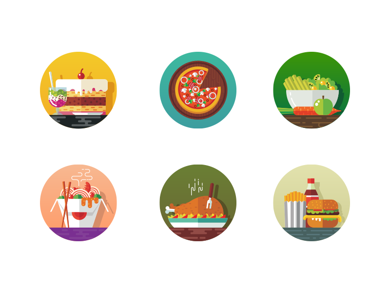 Food icons front