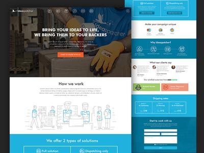 Ideaspatcher website fireart fireart studio web design deliver flat crowdfunding shipping cool design ui web