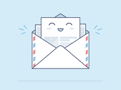 The message is coming fireart fireart studio deliver flat message mascot illustration smile web