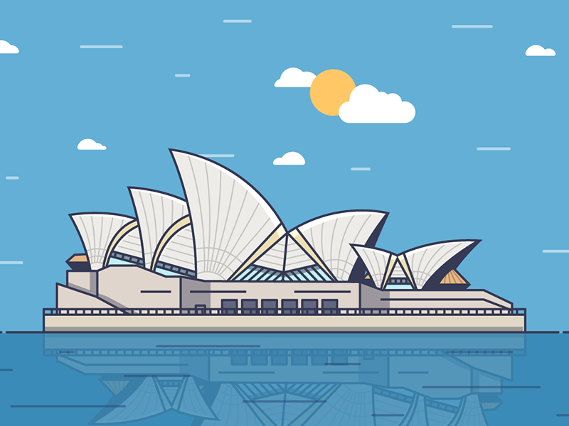 Sydney clouds sun sky sea sydney opera house building sydney fireart studio fireart