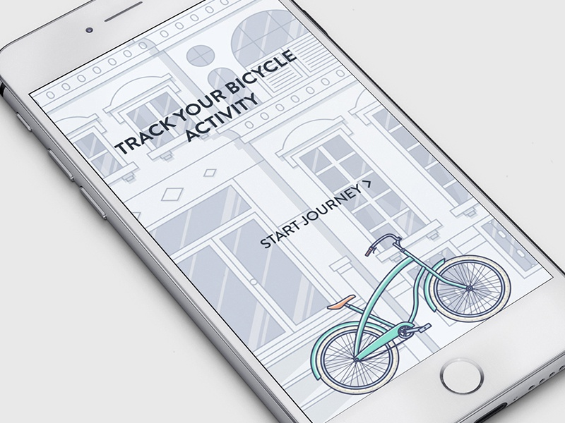 Intro screen bike white screens ios intro outline fireart studio fireart