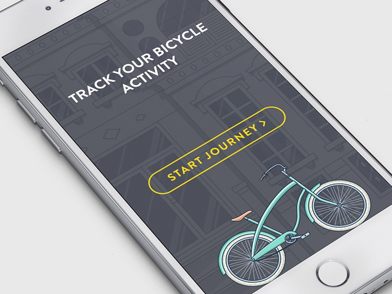 Track Avtivity 2 fit journey appstore ios app bike outline flat fireart studio fireart